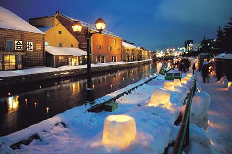 小樽運河_小樽雪あかりの路