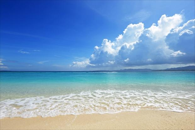 沖縄の海!透明で綺麗!!