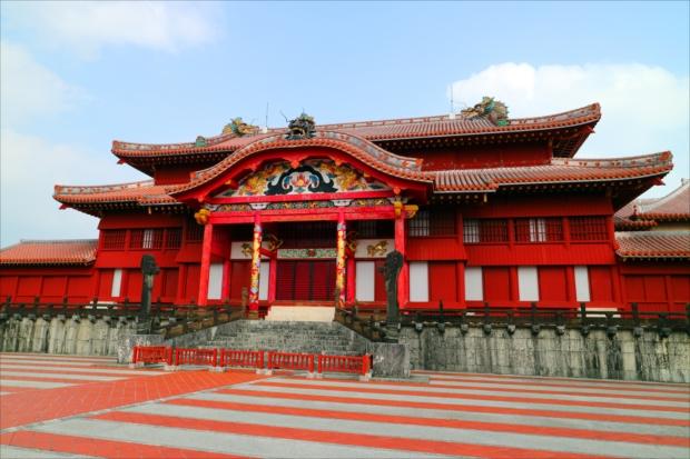 「首里城」は中国と日本の建築様式が混在した独特の様式。