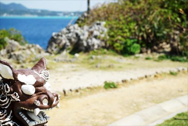 真栄田岬の風景