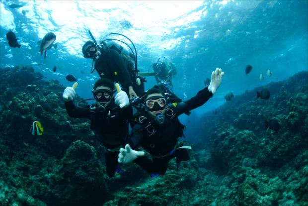 沖縄の海は楽しさいっぱい!