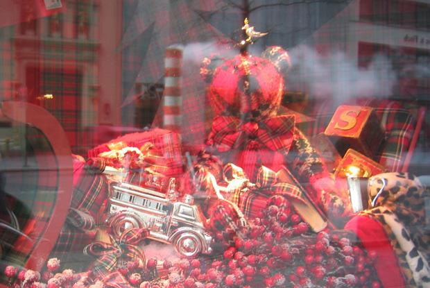 NYショーウィンドウのクリスマス