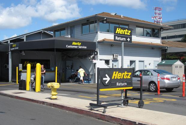 ホノルル空港のレンタカー返却場所