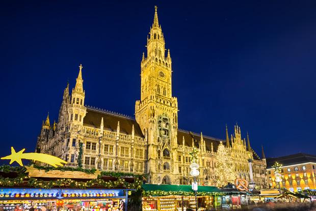 ミュンヘンマリエン広場で開かれるクリスマスマーケット