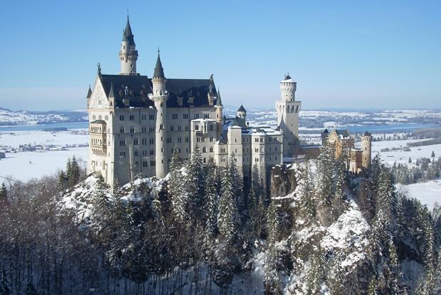 冬のノイシュバンシュタイン城