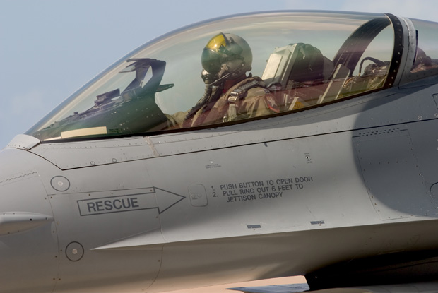 戦闘機の操縦席