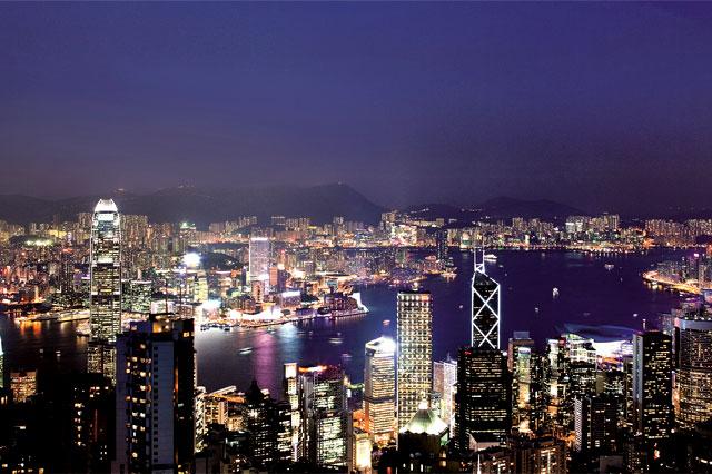 香港ビクトリアピークの「100万ドルの夜景」きれい!!