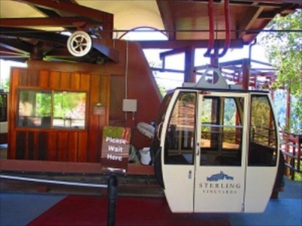 「スターリング・ヴィンヤード」はゴンドラから見る眺望も楽しみの一つ