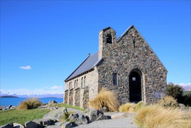 現在も礼拝が行われいてる、テカポ湖にある唯一の教会