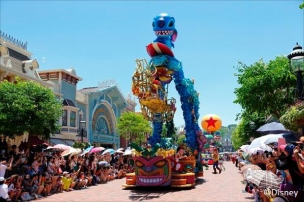 香港ディズニーランドならではの個性的なパレードも魅力の1つ