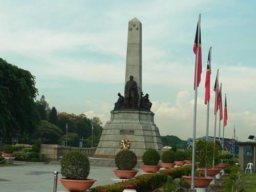 リサール公園にあるホセ・リサール像