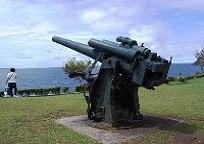 コレヒドール島にある砲台