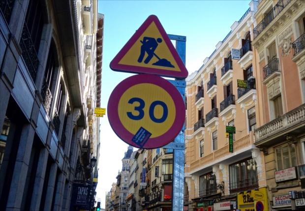 標識の色までスペイン!(写真提供/タケムラユウカ)