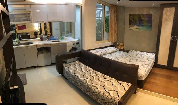 「Dongqu Light Inn(ドンクライトイン)」はキッチン付きの個室。まるでアパートの一室のよう