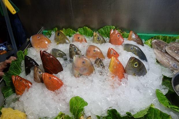 台湾のカラフルなお魚たち。寧夏夜市は屋台の店頭を見ているだけで楽しい!(写真提供:本田マイコさん)