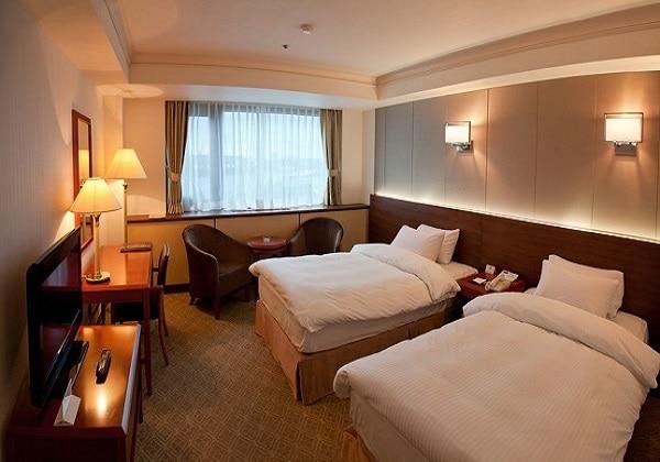ウラジオストクのロッテホテルは五つ星を獲得。高台に位置しているため、部屋からの眺望も楽しみ