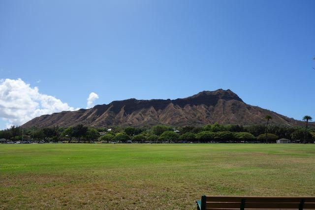 カピオラニ公園からはダイヤモンドヘッドの全景を見渡せる(画像提供:永田さち子)