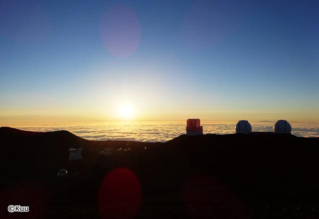 マウナケアから見る朝日