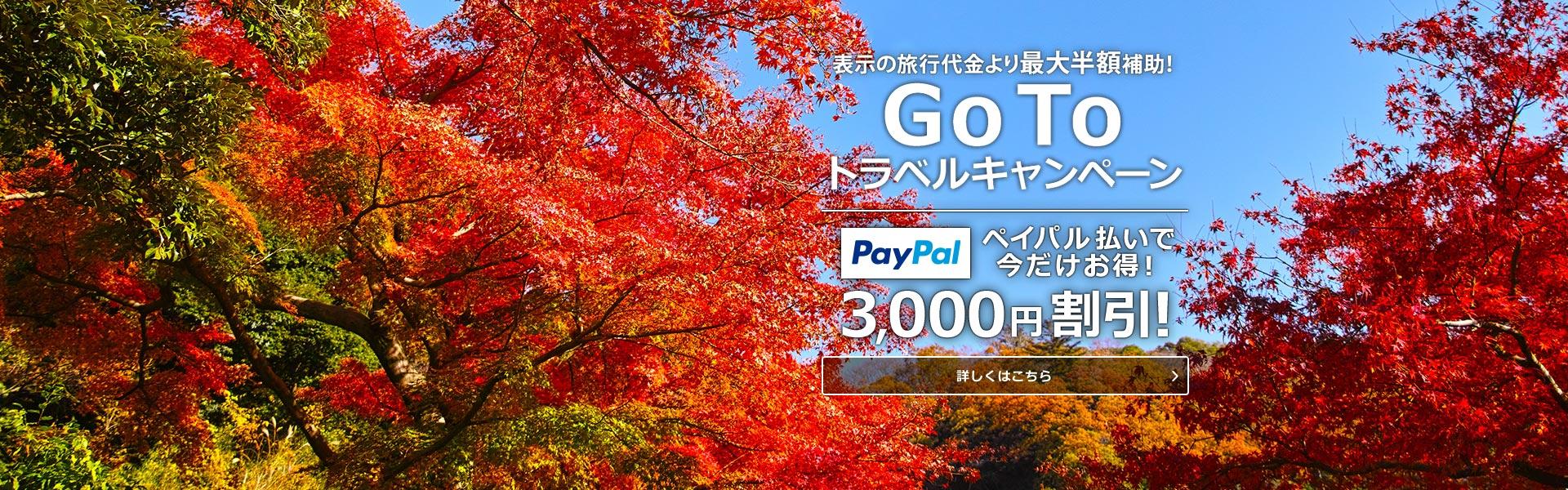 Go To Travelキャンペーン!大好評受付中!