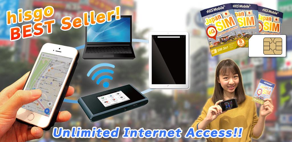 Unlimited Pocket WiFi Router Rental & SIM in Japan!|TOKYO