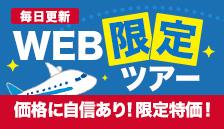 毎日更新 ホームページ限定海外ツアー