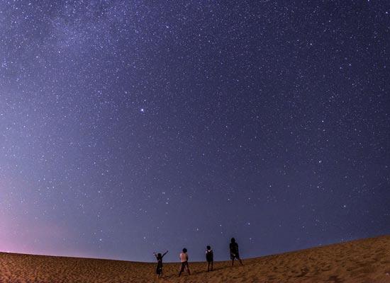 星取県!鳥取砂丘と星(イメージ)
