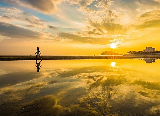 香川県 四国のウユニ塩湖「父母ヶ浜」(イメージ)
