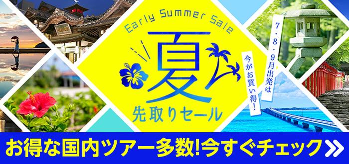 夏先取りセール 国内旅行
