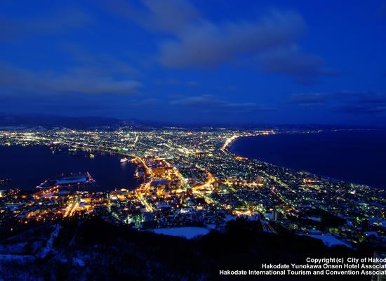 函館山から見た夜景(冬頃/イメージ)