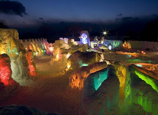 夜の支笏湖氷濤まつり(イメージ)