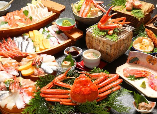 蟹のフルコース&海鮮丼(イメージ)