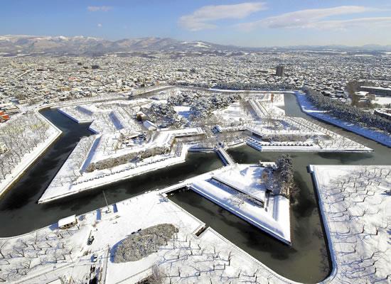 冬の五稜郭公園(イメージ)