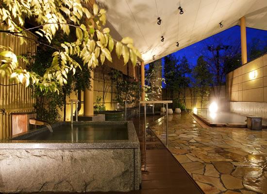 道後プリンスホテル・左の湯露天風呂(イメージ)