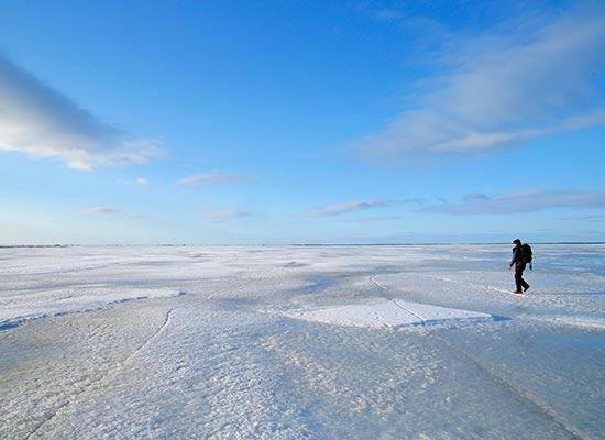 野付半島氷平線ウォーク(イメージ)
