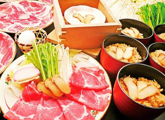 すき焼き&松茸ご飯食べ放題(イメージ)