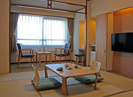 湯の川温泉 平成館海羊亭・ご滞在客室(和室)一例