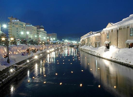 幻想的な風景!小樽運河 イメージ