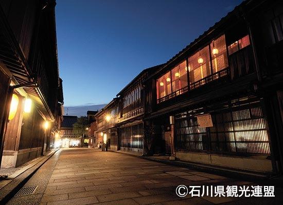 金沢_ひがし茶屋街・夜(イメージ)