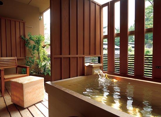 季の湯 雪月花 客室露天風呂一例(イメージ)