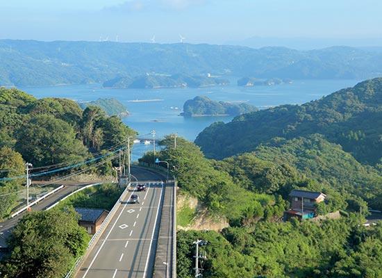 佐賀・玄海町の道(イメージ)